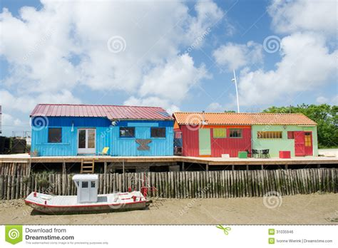 Colorful Cabins by Colorful Wooden Cabins Royalty Free Stock Image Image 31035946