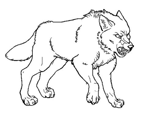 angry wolf coloring page angry wolf lineart by eternalcresen on deviantart