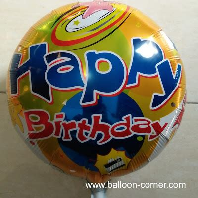 Balon Hbd Bulat by Balon Foil Bulat Motif Happy Birthday Balon Foil Bulat