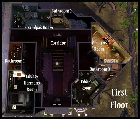Create Your Own Floorplan mod the sims halloween special 2010 the munsters house