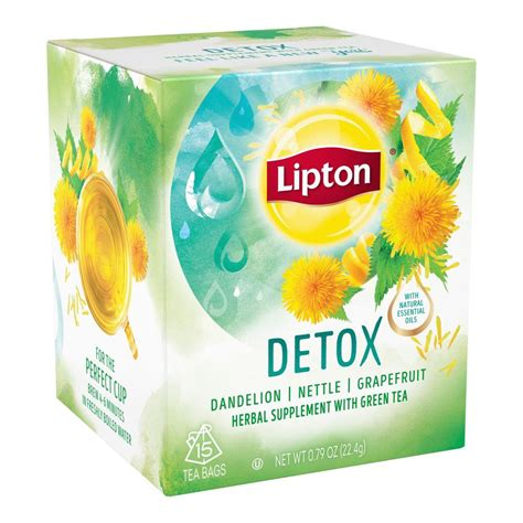 Does Lipton Green Tea Detox by Lipton Herbal Supplement With Green Tea