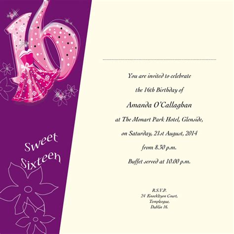 occasion card 16 1i sweet 16th birthday wedding
