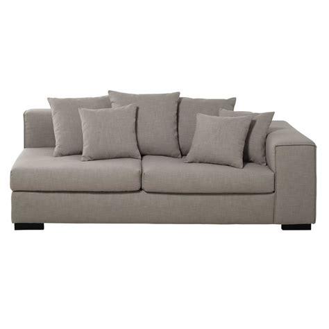 bracciolo divano bracciolo destro di divano 3 posti modulabile di lino