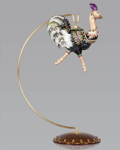 jay strongwater ostrich christmas ornament