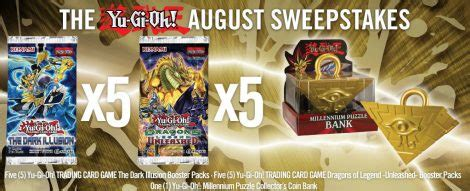 Yugioh Sweepstakes - the yu gi oh august sweepstakes yugioh world