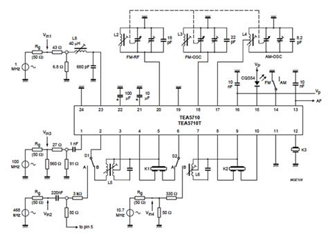 am radio integrated circuit am fm radio receiver circuit using tea5710 bimos ic circuit wiring diagrams