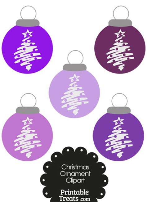 purple tree ornaments purple tree ornament clipart