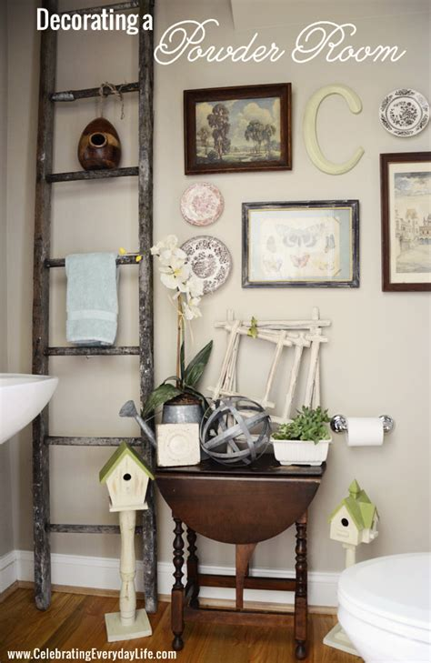 decorating my powder room celebrating everyday with