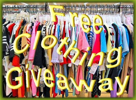 Free Clothing Giveaways - clothing giveaway clip art cliparts