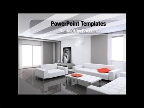 Apartment Design Ppt Interior Design Of Living Room Powerpoint Template