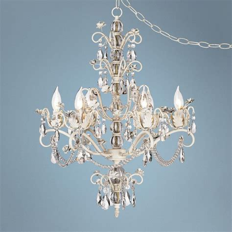 Kathy Ireland Dorset Swag Plug In Style 6 Light Chandelier Swag Style In Chandelier