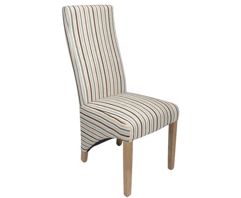 striped dining room chairs tenterden duck egg blue striped fabric dining chairs