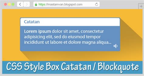 tutorial css keren membuat kotak catatan blockquote keren di blog