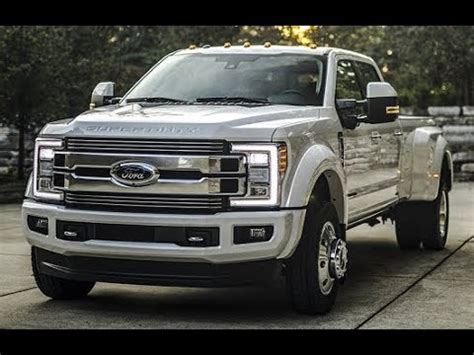 2018 ford f 450 super duty limited the first ever super