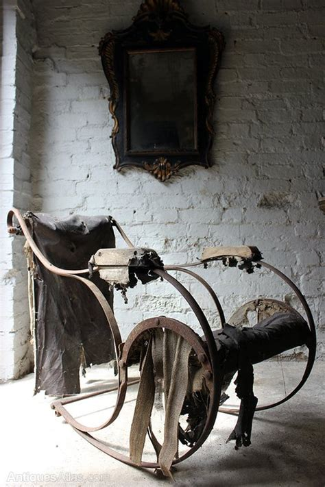 victorian wrought iron rocking chair  antiques atlas