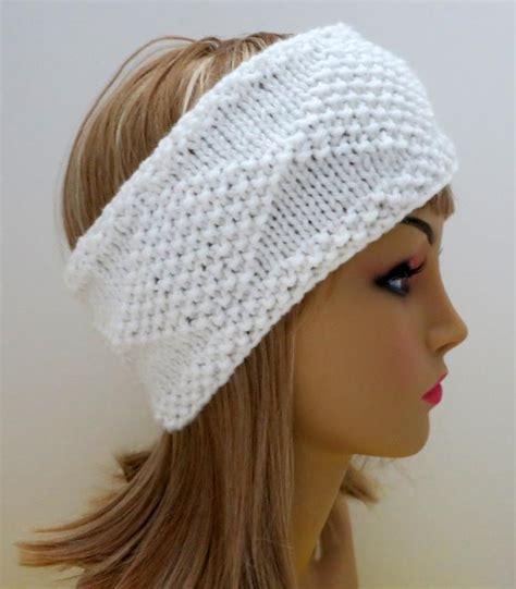 knitting pattern ear warmer headband diamonds in the snow headband ear warmer by carolinagal