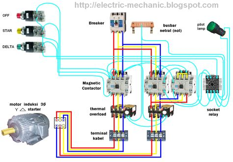 3 phase motor contactor wiring diagram get free image