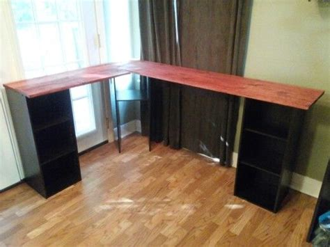 Diy L Shaped Desk Made By Colby And I Education Pinterest Diy Desk L