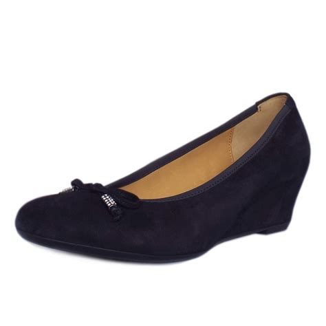 Wedge Pumps gabor alvin smart low wedge pumps in navy mozimo