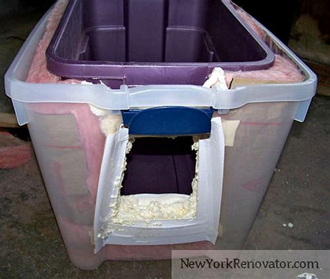 doors expanding in winter how to build a diy insulated outdoor cat shelter catster