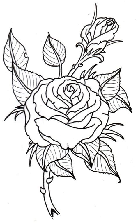 rose tattoo outlines best 25 outline drawing ideas on
