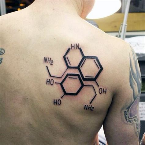 tattoo ink chemistry black ink scapular tattoo of chemistry formula