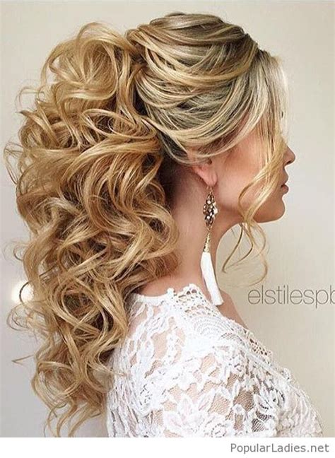 Wedding Hairstyles Ponytail by High Curly Ponytail Wedding Hair