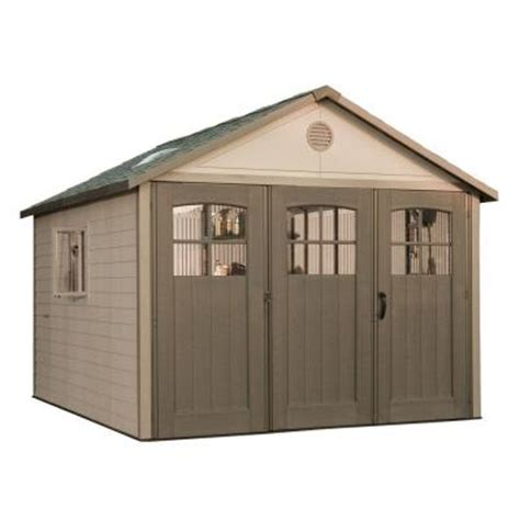 Home Depot Lifetime Shed lifetime 11 ft x 11 ft storage shed with 9 ft wide carriage door 6417 the home depot