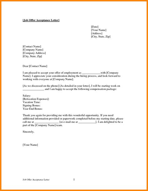 Acknowledgement Letter Offer Acceptance Letter For Resumes
