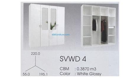 Rak Piring Empat Pintu lemari 4 pintu putih svwd 4 svan pro design new sa e