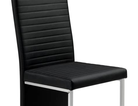 Tempo Dining Chairs Tempo Black Faux Leather Dining Chair