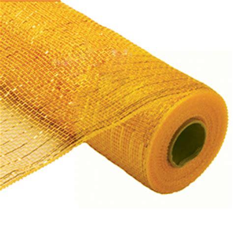 "gold metallic poly mesh fabric, 21"" x 10 yards"