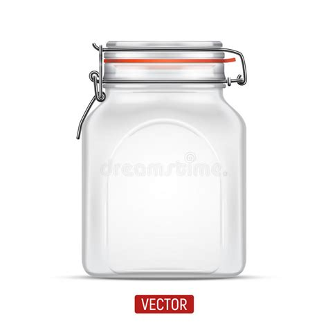 swing top bale jars vector empty bale square glass jar with swing top lid