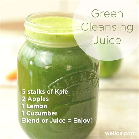Juicing For Detox Recipes Weight Loss by Green Cleansing Juice Tastes Awesome And Great For Weight