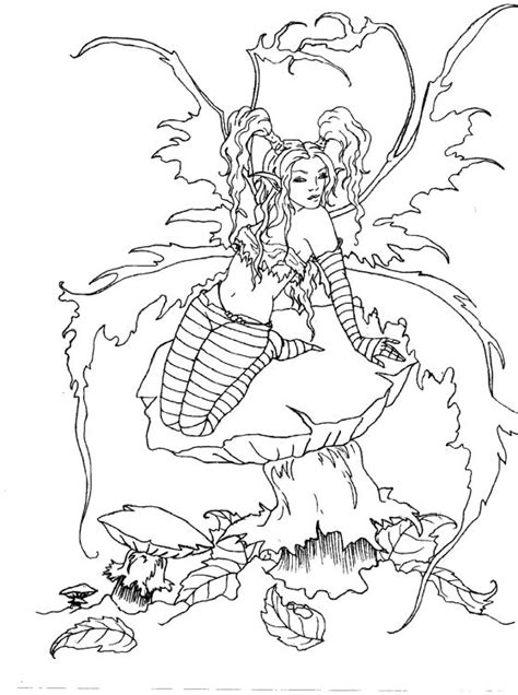 forest elf coloring pages artist amy brown fairy myth mythical mystical legend elf