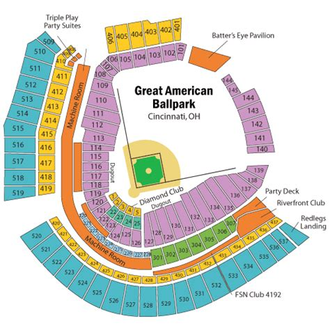 cincinnati reds seating chart with rows cincinnati reds stadium seating chart season ticket
