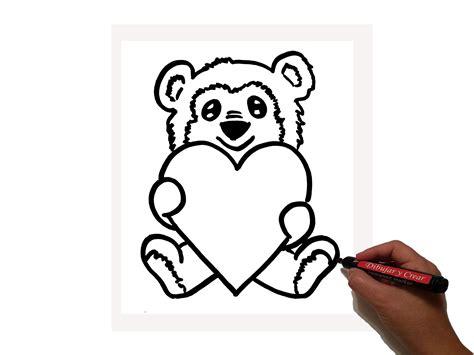 imágenes de osos fáciles para dibujar como dibujar oso corazon san valentin youtube
