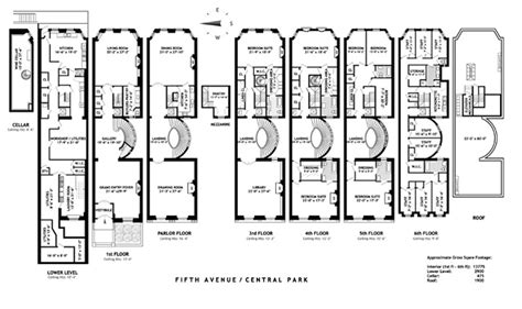 new york townhouse floor plans victor shafferman estate floor plans fifth avenue new york