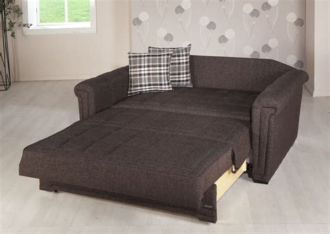 bed loveseat victoria andre dark brown loveseat sleeper by sunset