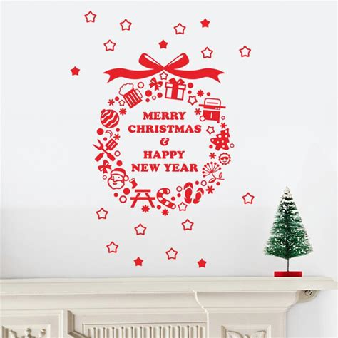 aliexpress com buy merry christmas happy new year wall