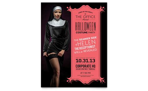 costume flyer templates costume flyer template word publisher
