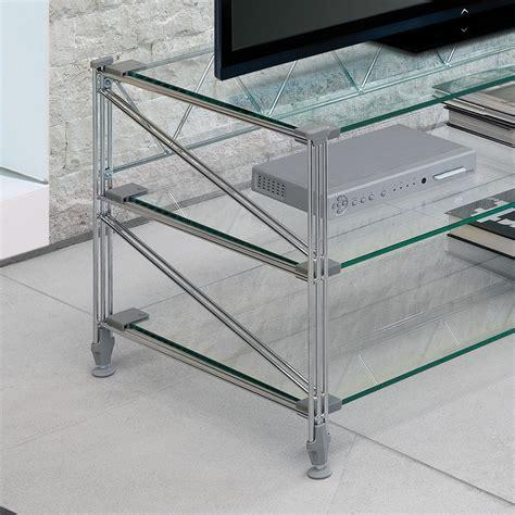 porta mensole in acciaio tilde scaffale porta tv in acciaio ripiani in vetro 100 x