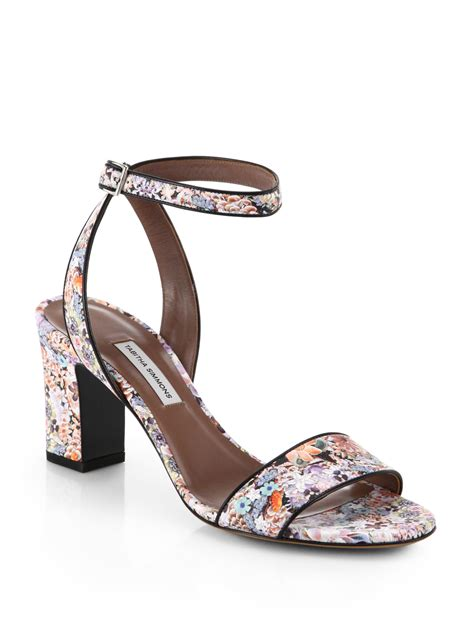 floral print sandals simmons leticia floral print leather sandals in