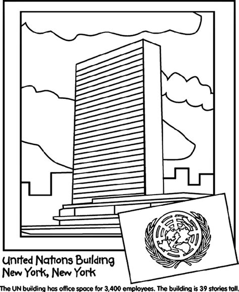 United Nations Building Crayola Ca Nations Coloring Pages