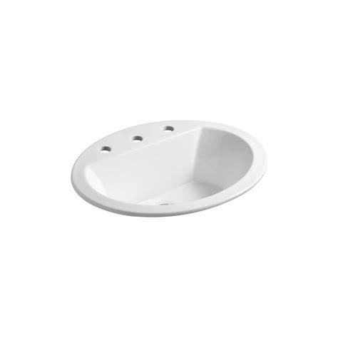 bathroom sink drop in kohler bryant drop in vitreous china bathroom sink in