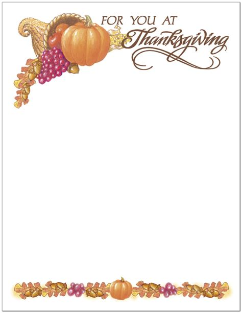 printable thanksgiving stationery 6 best images of free printable thanksgiving letter head