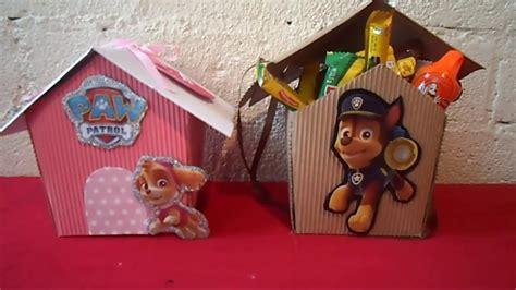dulceros de paw patrol como hacer dulceros de la patrulla canina paw patrol