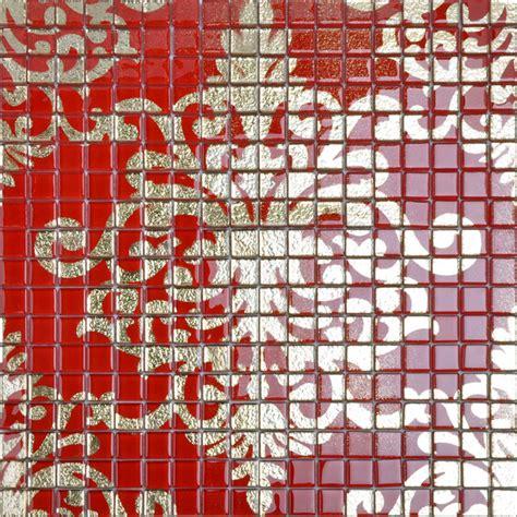 red glass tile kitchen backsplash crystal glass tile red puzzle mosaic tile crystal