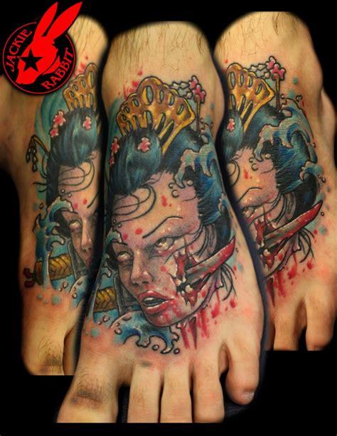 tattoo geisha head severed geisha head tattoo by jackie rabbit by