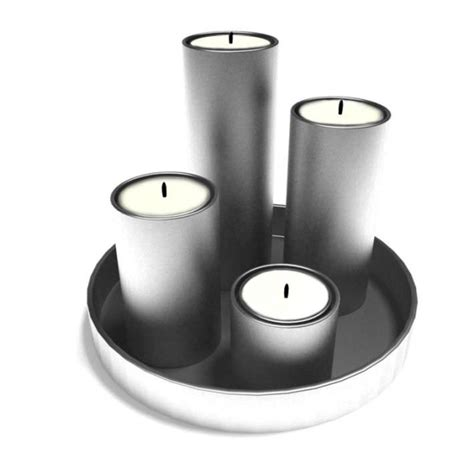 Silver Candle Tray Silver Candle Tray 3d Model Cgtrader